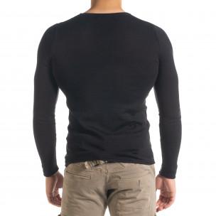 Ανδρική μαύρη μπλούζα Lagos  2