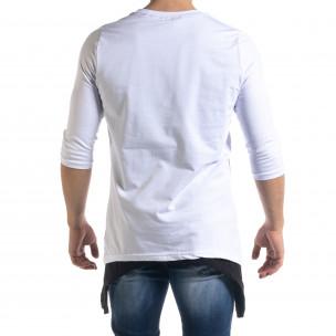 Ανδρική λευκή κοντομάνικη μπλούζα Open  2