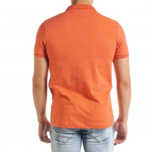 Ανδρική πορτοκαλιά πολο Clang 2