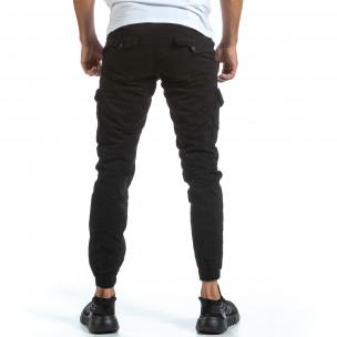 Ανδρικό μαύρο παντελόνι cargo Blackzi Blackzi 2