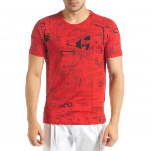 Ανδρική κόκκινη κοντομάνικη μπλούζα Breezy
