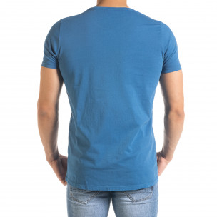 Ανδρική γαλάζια κοντομάνικη μπλούζα Lagos 2
