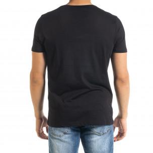 Ανδρική μαύρη κοντομάνικη μπλούζα Panda  2