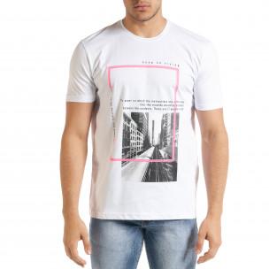 Ανδρική λευκή κοντομάνικη μπλούζα Breezy Breezy