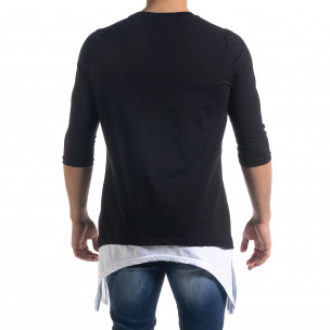 Ανδρική μαύρη κοντομάνικη μπλούζα Open  2