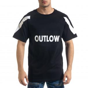 Ανδρική μαύρη κοντομάνικη μπλούζα Vae Victis