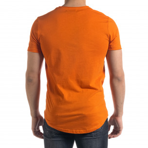 Ανδρική πορτοκαλιά κοντομάνικη μπλούζα Clang  2