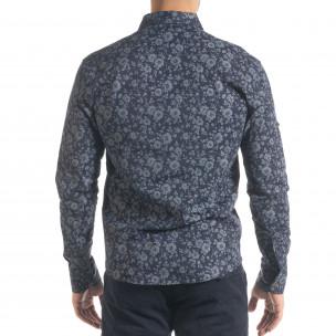 Ανδρικό γαλάζιο πουκάμισο Flyboys  2
