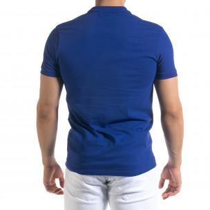Ανδρική γαλάζια πολο Clang 2