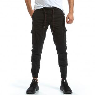 Ανδρικό μαύρο παντελόνι cargo Blackzi Blackzi