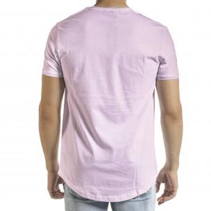 Ανδρική μωβ κοντομάνικη μπλούζα Clang Clang 2