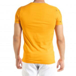 Ανδρική πορτοκαλιά κοντομάνικη μπλούζα Lagos 2