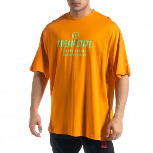 Ανδρική πορτοκαλιά κοντομάνικη μπλούζα SAW