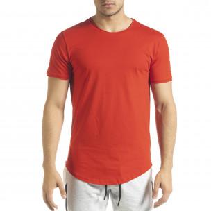 Ανδρική κόκκινη κοντομάνικη μπλούζα Clang