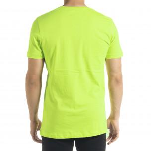 Ανδρική πράσινη κοντομάνικη μπλούζα Clang  2