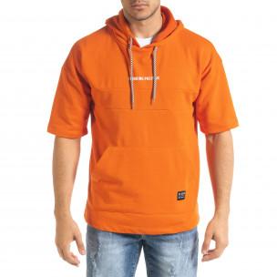 Ανδρικό πορτοκαλί φούτερ Clang Clang 2