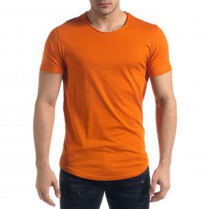Ανδρική πορτοκαλιά κοντομάνικη μπλούζα Clang