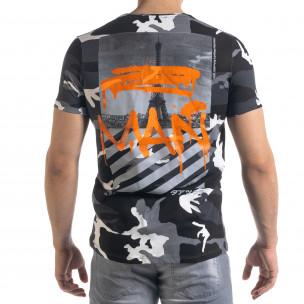 Ανδρική καμουφλαζ κοντομάνικη μπλούζα Lagos  2