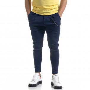 Ανδρικό μπλε παντελόνι Open