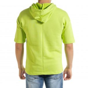 Ανδρικό πράσινο φούτερ Clang Clang 2