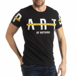 Ανδρική μαύρη κοντομάνικη μπλούζα ART