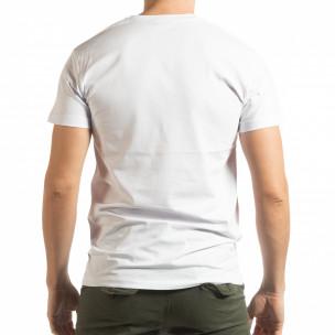 Ανδρική λευκή κοντομάνικη μπλούζα BK 2