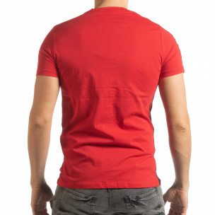 Ανδρική κόκκινη- μαύρη κοντομάνικη μπλούζα New York 2