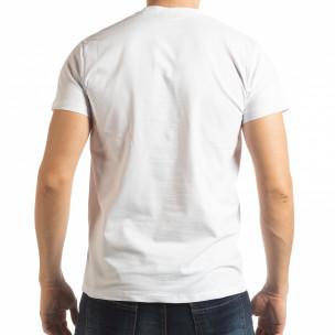 Ανδρική λευκή κοντομάνικη μπλούζα Sound  2