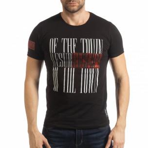 Ανδρική μαύρη κοντομάνικη μπλούζα Resurrection