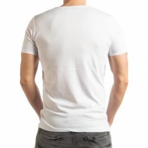 Ανδρική λευκή κοντομάνικη μπλούζα Criticize  2