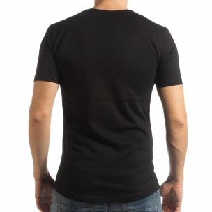 Ανδρική μαύρη κοντομάνικη μπλούζα To-Go  2