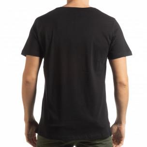 Ανδρική μαύρη κοντομάνικη μπλούζα με νεκροκεφαλή παραλλαγής 2