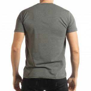 Ανδρική γκρι κοντομάνικη μπλούζα Originals  2