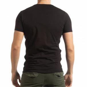 Ανδρική μαύρη κοντομάνικη μπλούζα She is What  2