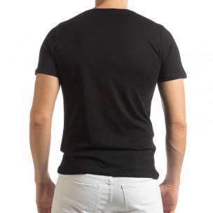Ανδρική μαύρη κοντομάνικη μπλούζα Amsterdam 96  2