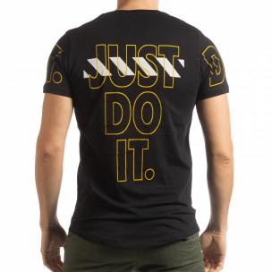 Ανδρική μαύρη κοντομάνικη μπλούζα Just do it  2