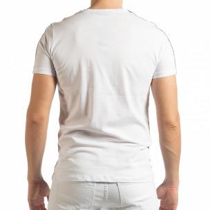 Ανδρική ασπρόμαυρη κοντομάνικη μπλούζα New York  2