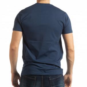 Ανδρική μπλε κοντομάνικη μπλούζα Originals  2