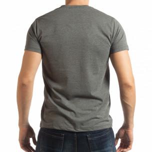 Ανδρική γκρι κοντομάνικη μπλούζα Denim Company  2