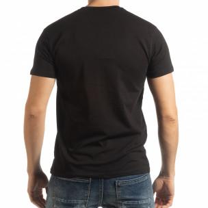 Ανδρική μαύρη κοντομάνικη μπλούζα Denim Company  2
