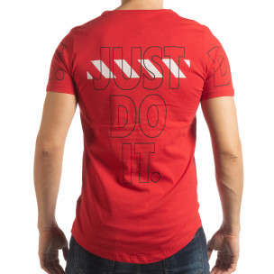 Ανδρική κόκκινη κοντομάνικη μπλούζα Just do it 2