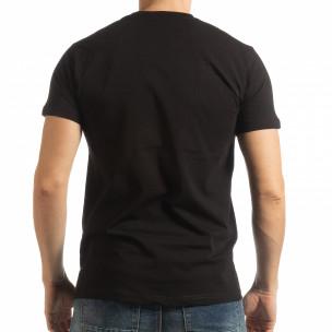 Ανδρική μαύρη κοντομάνικη μπλούζα BK  2