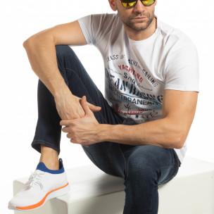 Ανδρική λευκή κοντομάνικη μπλούζα Ocean Racing