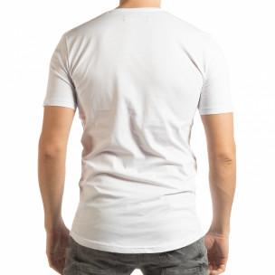 Ανδρική λευκή κοντομάνικη μπλούζα To-Go 2