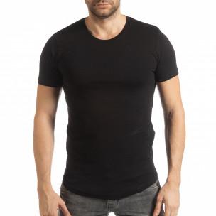 Basic ανδρική μαύρη κοντομάνικη μπλούζα