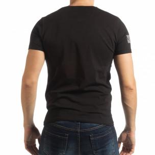 Ανδρική μαύρη κοντομάνικη μπλούζα Resurrection  2