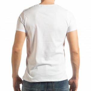 Ανδρική λευκή κοντομάνικη μπλούζα Vision  2