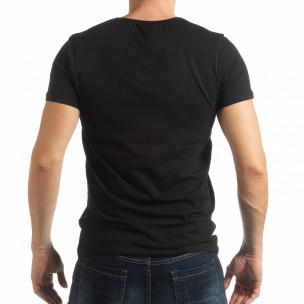 Ανδρική μαύρη κοντομάνικη μπλούζα ART  2