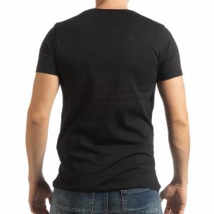 Ανδρική μαύρη κοντομάνικη μπλούζα Vision  2