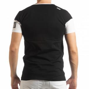 Ανδρική μαύρη κοντομάνικη μπλούζα Money  2